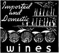 Imported and domestic wines Stock Photo