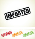 Imported stamps a grungy set of Royalty Free Stock Images