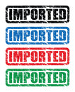 Imported stamps a grungy set of Royalty Free Stock Image