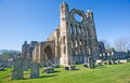 The imposing east front of Elgin Cathedral. Stock Image