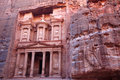 Imposing Monastery in Petra Royalty Free Stock Photography