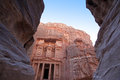 Imposing monastery in petra jordan famous Royalty Free Stock Photos