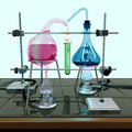 Impossible chemistry experiment Royalty Free Stock Photos