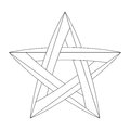 Impossible star for Your project. Icon or logo