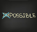Impossible words some motivational approach to business Royalty Free Stock Photo