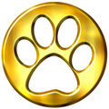 Impresión enmarcada de oro del gato 3D Fotos de archivo libres de regalías