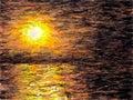 Impressionist Sunset (Dark Misty)