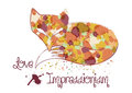 Impressionistic Fox Illustration