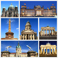 Impressions of berlin collage travel images Stock Photo