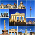 Impressions of berlin collage travel images Royalty Free Stock Images