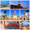 Impressions of cuba collage travel images Stock Photo