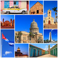 Impressions of cuba collage travel images Royalty Free Stock Photos