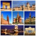 Impressions of European Landmarks Royalty Free Stock Photo