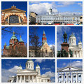Impressions of helsinki collage travel images Royalty Free Stock Photography