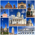 Impressions of helsinki collage travel images Royalty Free Stock Image