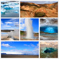 Impressions of iceland collage travel images Royalty Free Stock Photos
