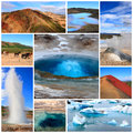 Impressions of iceland collage travel images Royalty Free Stock Images