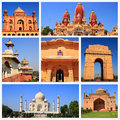 Impressions of india collage travel images Royalty Free Stock Image