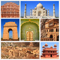 Impressions of india collage travel images Stock Photo