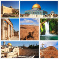 Impressions of israel collage travel images Stock Photos