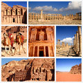 Impressions of jordan collage travel images Royalty Free Stock Image