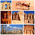Impressions of jordan collage travel images Stock Photo
