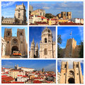 Impressions of lisbon collage travel images Stock Images