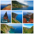 Impressions of madeira collage travel images Royalty Free Stock Photography
