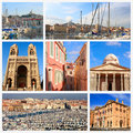 Impressions of marseille collage travel images Royalty Free Stock Images