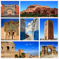 Impressions of morocco collage travel images Royalty Free Stock Photo