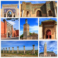Impressions of morocco collage travel images Stock Images