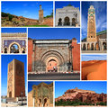 Impressions of morocco collage travel images Royalty Free Stock Images