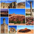 Impressions of morocco collage travel images Stock Photo