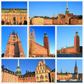 Impressions of stockholm collage travel images Stock Photo