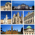Impressions of vienna collage travel images Stock Photo