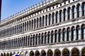 Impressive Biblioteca Nazionale Marciana on Piazza San Marco in Venice. Royalty Free Stock Photo