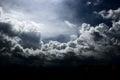 Impressive cloud dynamic in sky Stock Photo