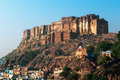 The impressive Mehrangarh fort in Jodhpur Stock Photography