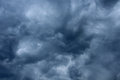 Impressive pattern of clouds before rain a Royalty Free Stock Images