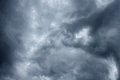 Impressive pattern of clouds before rain a Royalty Free Stock Photo