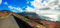 Impressive roads with stunning views in Lanzarote island, Canary Royalty Free Stock Photo