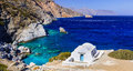 Impressive View Of Little Church,Amorgos,Greece. Royalty Free Stock Photo