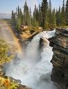 Impressive Waterfall and Raibow Royalty Free Stock Photo