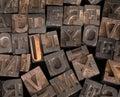 Impressora velha letters Imagem de Stock Royalty Free