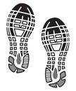 Imprint soles shoes sneakers vector illustrations of the Stock Photo