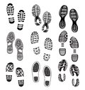 Imprint soles shoes vector illustration of the the collection of a Stock Photos