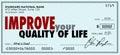 Improve Your Quality of Life Money Check Spend Enjoy Income