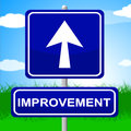 Improvement Sign Means Upward Progress And Advancing Royalty Free Stock Photo