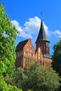 Inactive cathedral of konigsberg on the island kneiphof kaliningrad russia may in sunny may day in city kaliningrad Royalty Free Stock Image