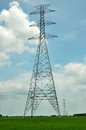 Inactive high voltage electricity posts Stock Photos